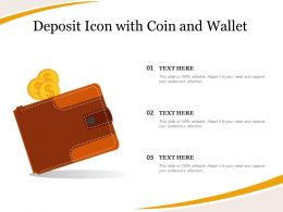 Deposit Icon With Coin And Wallet