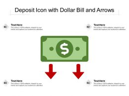 Deposit Icon With Dollar Bill And Arrows