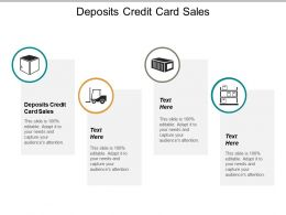 Deposits Credit Card Sales Ppt Powerpoint Presentation Gallery Microsoft Cpb