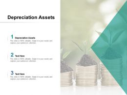 Depreciation Assets Ppt Powerpoint Presentation Portfolio Picture Cpb