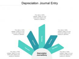 Depreciation Journal Entry Ppt Powerpoint Presentation File Show Cpb