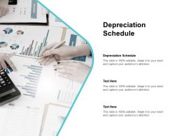 Depreciation Schedule Ppt Powerpoint Presentation Pictures Example Topics Cpb