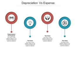 Depreciation Vs Expense Ppt Powerpoint Presentation Professional Infographic Template Cpb