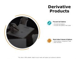 Derivative Products Ppt Powerpoint Presentation Show