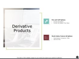 Derivative Products Stock Index Futures Ppt Powerpoint Presentation Outline Themes