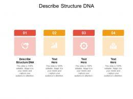 Describe Structure DNA Ppt Powerpoint Presentation Ideas Deck Cpb