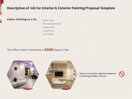 Description Of Job For Interior And Exterior Painting Proposal Template Ppt Powerpoint Presentation
