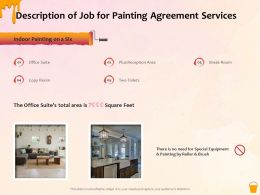Description Of Job For Painting Agreement Services Ppt Powerpoint Presentation Gallery Objects