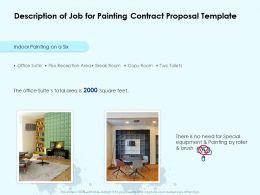 Description Of Job For Painting Contract Proposal Template Ppt Powerpoint Outline