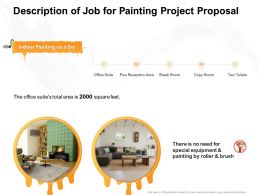 Description Of Job For Painting Project Proposal Ppt Powerpoint Presentation Infographics