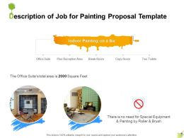 Description Of Job For Painting Proposal Template Ppt Powerpoint Presentation Outline Clipart
