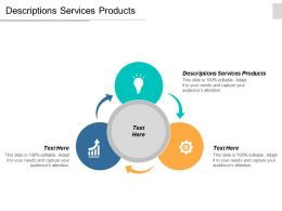 Descriptions Services Products Ppt Powerpoint Presentation Gallery Graphics Template Cpb