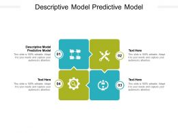 Descriptive Model Predictive Model Ppt Powerpoint Presentation File Templates Cpb