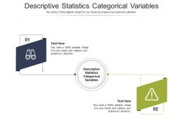 Descriptive Statistics Categorical Variables Ppt Powerpoint Presentation Layouts Images Cpb
