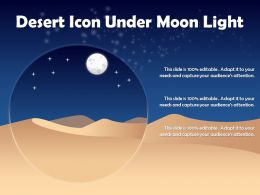 Desert Icon Under Moon Light