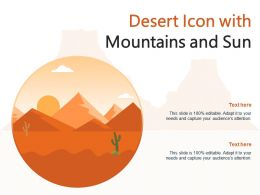 Desert Icon With Mountains And Sun