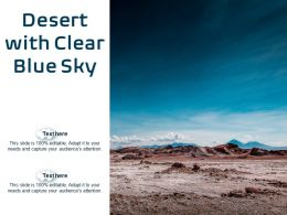 Desert With Clear Blue Sky
