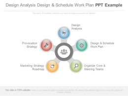 Design Analysis Design And Schedule Work Plan Ppt Example
