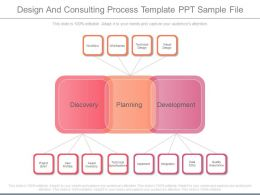 Design And Consulting Process Template Ppt Sample File