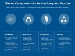 Design Components Of A Service Ecosystem Structure