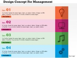 Design Concept For Management Flat Powerpoint Design