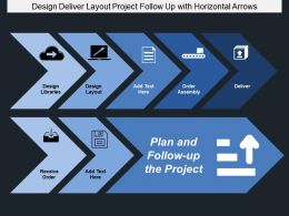 Design Deliver Layout Project Follow Up With Horizontal Arrows