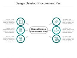 Design Develop Procurement Plan Ppt Powerpoint Presentation Infographic Template Layouts Cpb