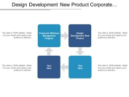 Design Development New Product Corporate Wellness Management Program Cpb