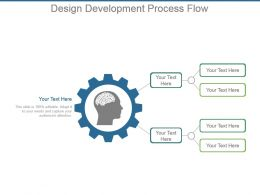 Design Development Process Flow Powerpoint Slide Template