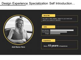 Design Experience Specialization Self Introduction With Bar