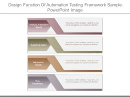 Design Function Of Automation Testing Framework Sample Powerpoint Image