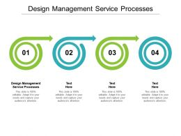 Design Management Service Processes Ppt Powerpoint Presentation Inspiration Slides Cpb