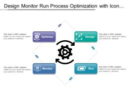 Design Monitor Run Process Optimization With Icon In Center