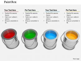 Design Of Bright Colored Paint Buckets