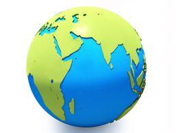 Design Of Globe On White Background Stock Photo