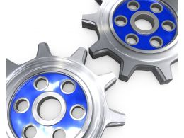Design Of Two Gears Stock Photo