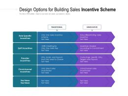 Design Options For Building Sales Incentive Scheme