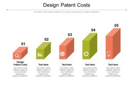 Design Patent Costs Ppt Powerpoint Presentation Infographic Template Display Cpb