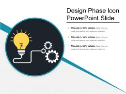 Design Phase Icon Powerpoint Slide