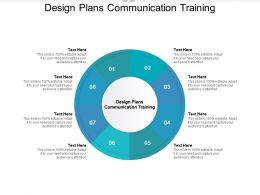 Design Plans Communication Training Ppt Powerpoint Presentation Infographics Cpb