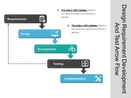 Design Requirement Development And Test Arrow Flow