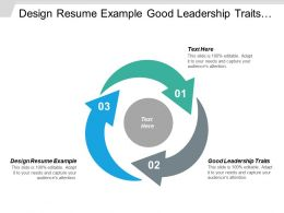 Design Resume Example Good Leadership Traits Developer Community Cpb