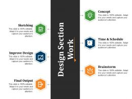 Design Section Work Powerpoint Slide Background Image