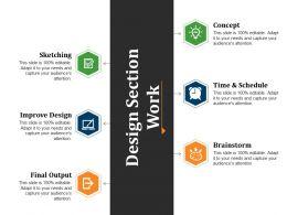 Design Section Work Powerpoint Slide Background Image
