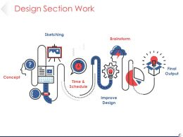 Design Section Work Powerpoint Slide Deck