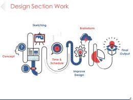 Design Section Work Powerpoint Slide Deck