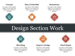 Design Section Work Ppt Slide Design
