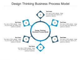 Design Thinking Business Process Model Ppt Powerpoint Presentation Visual Aids Pictures Cpb
