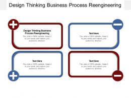 Design Thinking Business Process Reengineering Ppt Powerpoint Presentation Portfolio Graphics Cpb