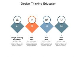 Design Thinking Education Ppt Powerpoint Presentation Infographic Template Gallery Cpb